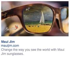 166a42cdf7ce Above is an ad for Maui Jim sunglasses. As you might be able to tell from  the name, the sunglasses are from Hawaii and that is very infused in the  branding.
